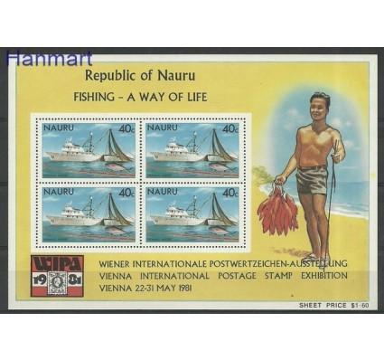 Znaczek Nauru 1981 Mi bl 4 Czyste **