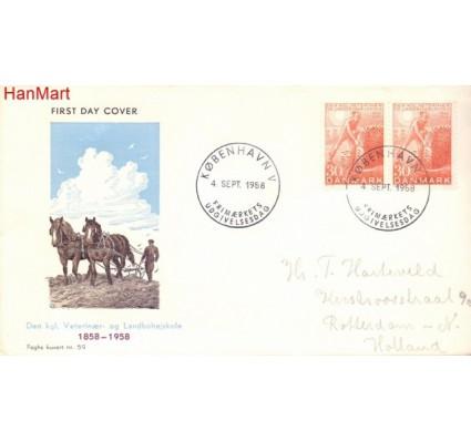 Znaczek Dania 1958 FDC