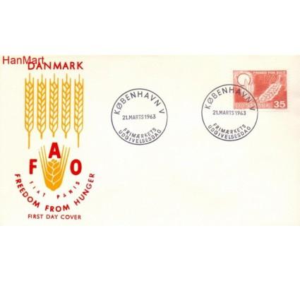 Znaczek Dania 1963 FDC