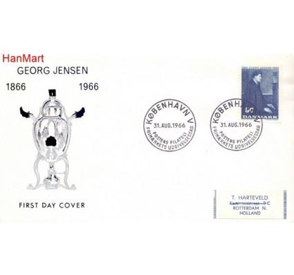 Znaczek Dania 1966 FDC