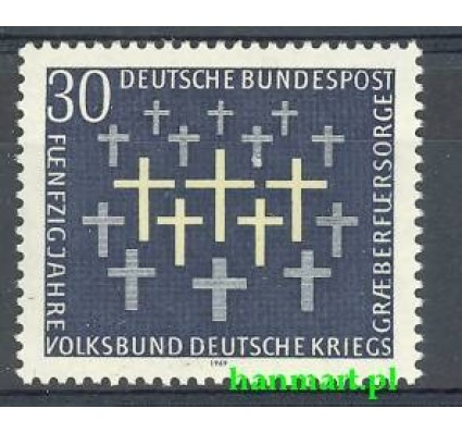 Znaczek Niemcy 1969 Mi 586 Czyste **
