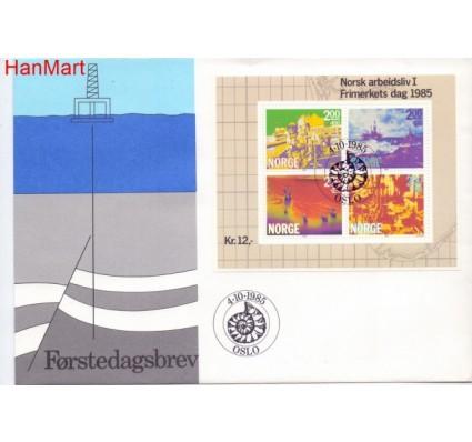 Norwegia 1985 Mi bl 5 FDC