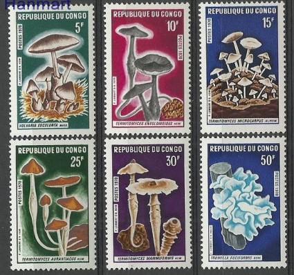 Znaczek Kongo 1970 Mi 232-237 Czyste **