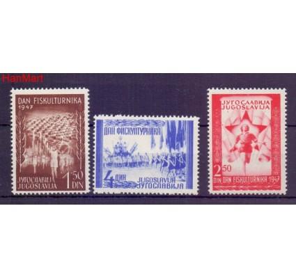 Znaczek Jugosławia 1947 Mi 521-523 Czyste **