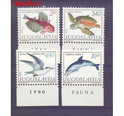 Znaczek Jugosławia 1980 Mi 1834-1837 Czyste **