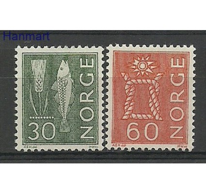 Znaczek Norwegia 1964 Mi 524-525x Czyste **
