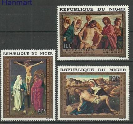 Znaczek Niger 1973 Mi 376-378 Czyste **