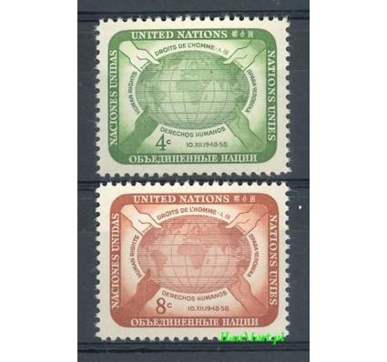 Znaczek Narody Zjednoczone Nowy Jork 1958 Mi 74-75 Czyste **