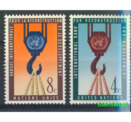 Znaczek Narody Zjednoczone Nowy Jork 1960 Mi 92-93 Czyste **