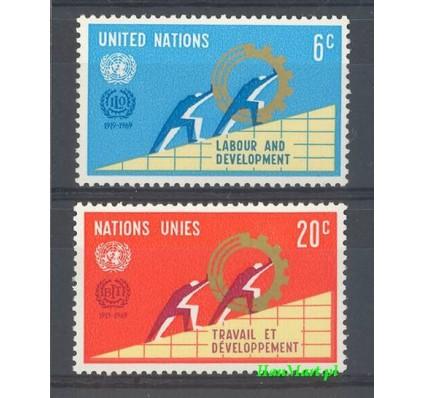 Znaczek Narody Zjednoczone Nowy Jork 1969 Mi 216-217 Czyste **