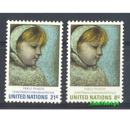 Znaczek Narody Zjednoczone Nowy Jork 1971 Mi 240-241 Czyste **