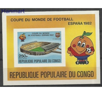 Znaczek Kongo 1982 Mi bl 32B Czyste **
