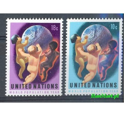 Znaczek Narody Zjednoczone Nowy Jork 1974 Mi 275-276 Czyste **