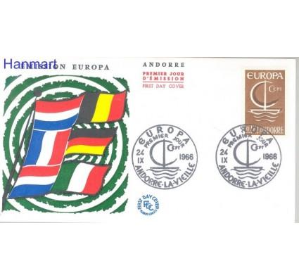 Znaczek Andora Francuska 1966 Mi 198 FDC