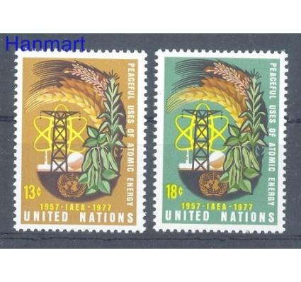 Znaczek Narody Zjednoczone Nowy Jork 1977 Mi 313-314 Czyste **