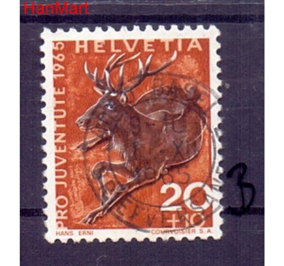 Szwajcaria 1965 Stemplowane