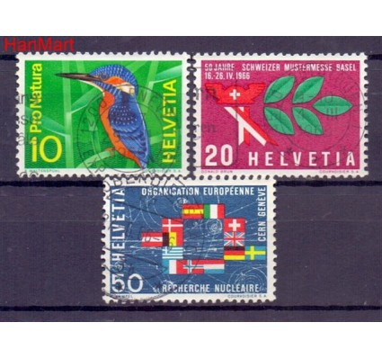 Szwajcaria 1966 Stemplowane