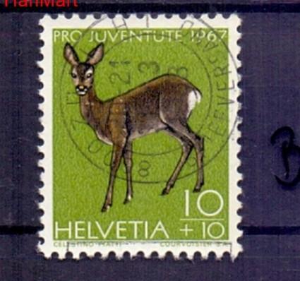 Znaczek Szwajcaria 1967 Stemplowane