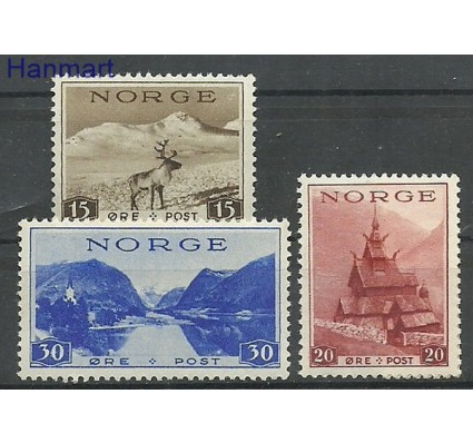 Znaczek Norwegia 1938 Mi 195-197 Czyste **