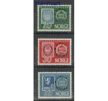 Znaczek Norwegia 1955 Mi 393-395 Z podlepką *