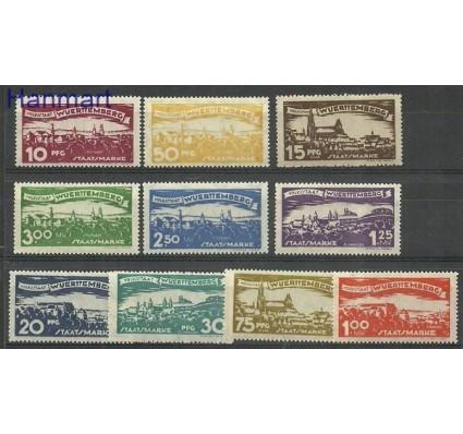 Znaczek Wurttemberg / Wirtembergia 1920 Mi 272-281 Czyste **