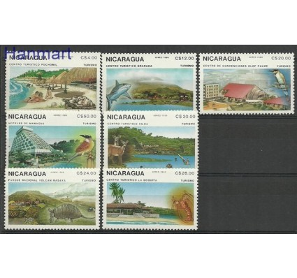 Znaczek Nikaragua 1989 Mi 2926-2932 Czyste **