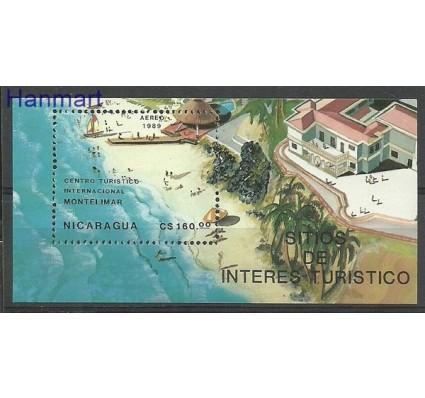 Znaczek Nikaragua 1989 Mi bl 182 Czyste **