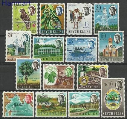 Znaczek Brytyjskie Terytorium Oceanu Indyjskiego 1968 Mi 1-15 Czyste **