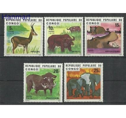 Znaczek Kongo 1976 Mi 539-543 Czyste **