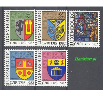 Znaczek Luksemburg 1982 Mi 1063-1067 Czyste **