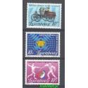 Luksemburg 1985 Mi 1121-1123 Czyste **