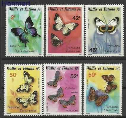 Znaczek Wallis et Futuna 1987 Mi 521-526 Czyste **