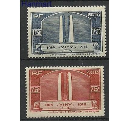 Znaczek Francja 1936 Mi 322-323 Z podlepką *