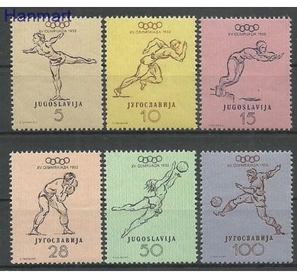 Znaczek Jugosławia 1952 Mi 698-703 Czyste **