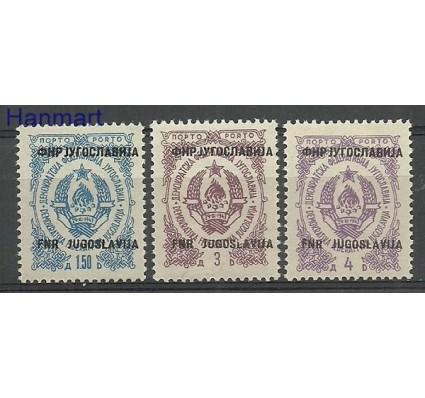 Znaczek Jugosławia 1950 Mi por 97-99 Czyste **