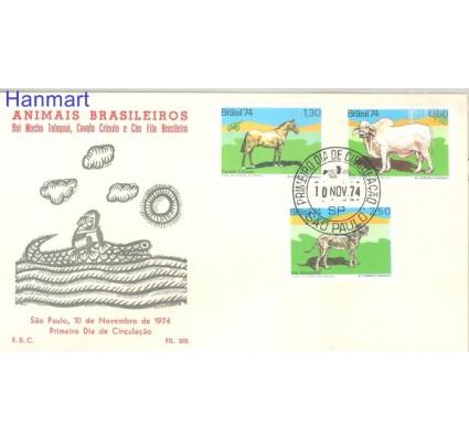 Znaczek Brazylia 1974 Mi 1459-1461 FDC