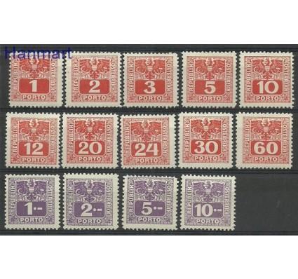 Znaczek Austria 1945 Mi 175-188 Z podlepką *
