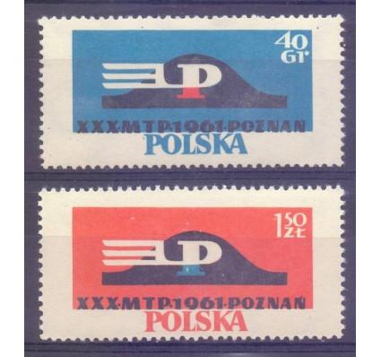 Znaczek Polska 1961 Mi 1230-1231 Fi 1086-1087 Czyste **