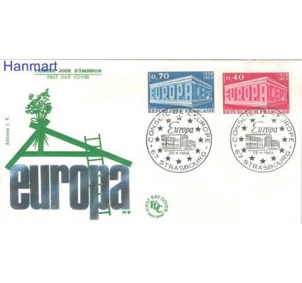 Znaczek Francja 1969 Mi 1665-1666 FDC
