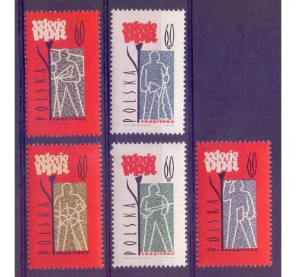 Znaczek Polska 1962 Mi 1289-1293 Fi 1144-1148 Czyste **