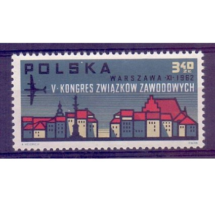 Znaczek Polska 1962 Mi 1363 Fi 1215 Czyste **