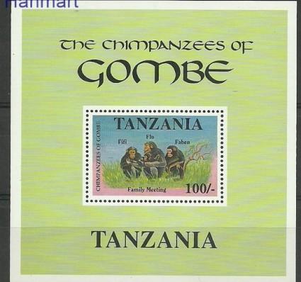Znaczek Tanzania 1992 Mi bl 177 Czyste **