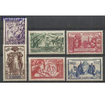 Znaczek Nowa Kaledonia 1937 Mi 200-205 Z podlepką *