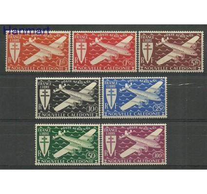 Znaczek Nowa Kaledonia 1942 Mi 296-302 Z podlepką *