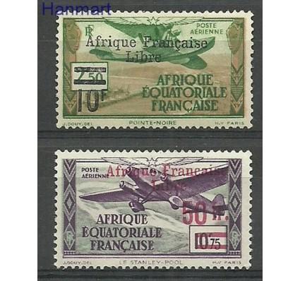 Znaczek Francuska Afryka Równikowa 1940 Mi 161-162 Z podlepką *