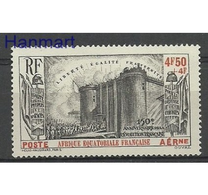 Znaczek Francuska Afryka Równikowa 1939 Mi 96 Z podlepką *
