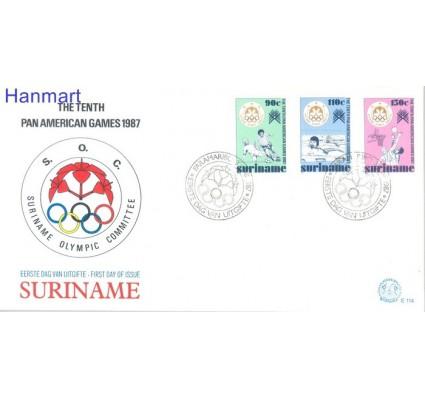 Znaczek Surinam 1987 Mi 1214-1216 FDC