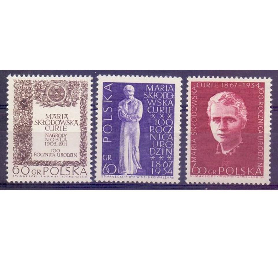 Polska 1967 Mi 1777-1779 Fi 1630-1632 Czyste **