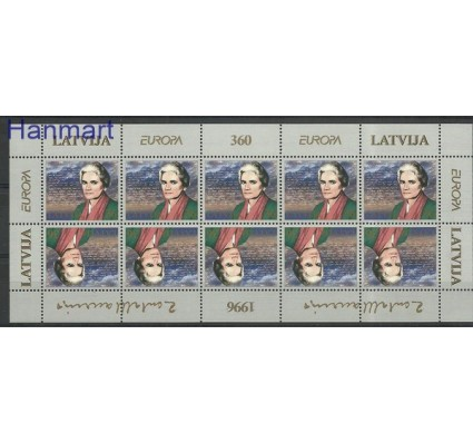 Znaczek Łotwa 1996 Mi ark 423 Czyste **