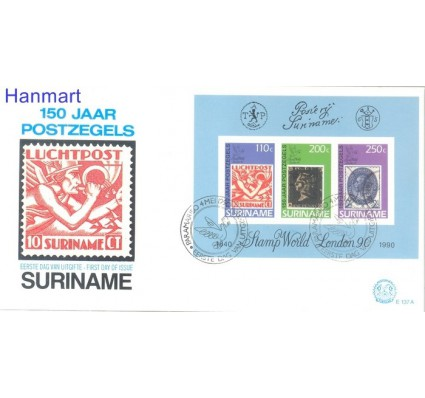 Znaczek Surinam 1990 Mi bl 53 FDC